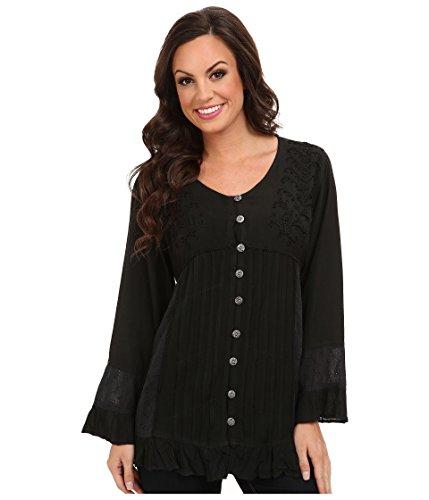 Scully Women's Corset Lace Blouse Black Medium