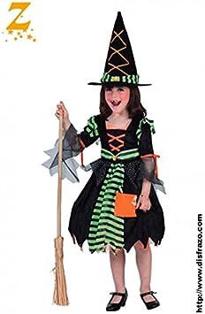 Disfraz Bruja Verde Niña T. 10-12: Amazon.es: Hogar