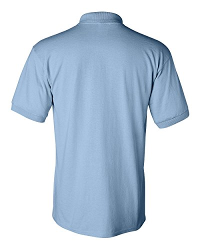 Uber Driver New Logo Mens Gildan Jersey Sport Polo T Shirt Light Blue W Black