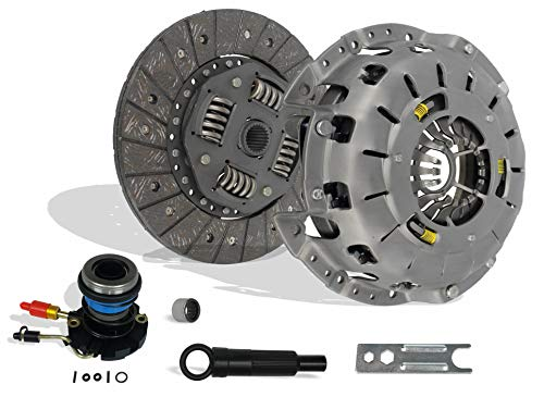 (Clutch And Slave Kit Works With Ford Ranger Mazda B2300 B2500 B3000 Bse Xl Xlt Limited Sport Stx Ds 1995-2011 2.3L L4 Gas Dohc 2.5L Gas Sohc L4 3.0L V6 Gas Ovh (Self-Adjusting Clutch Cover) )