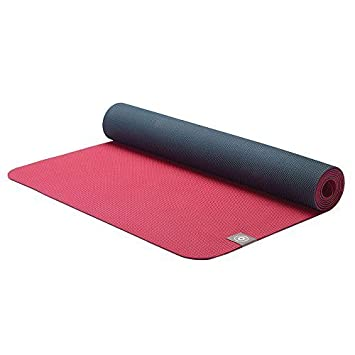 MERRITHEW Eco Yoga Mat (TPE) (Maroon/Charcoal), 0.125 inch ...
