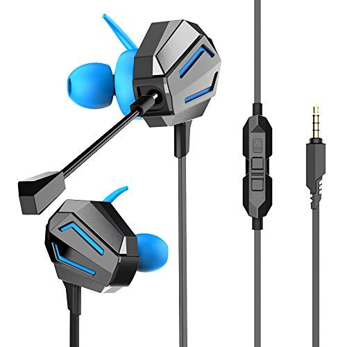 - VersionTECH. Stereo Gaming Headset,in Ear Wired Headphones Earbuds with Dual Mic, Deep Bass Vibration for PS4/New Xbox One Controller, Nintendo Switch(Audio), PC, Smartphone Games
