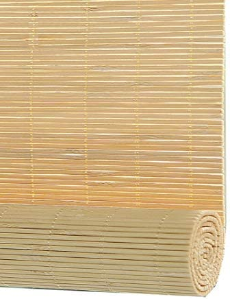 すだれ 15センチメートルヴァランスとサイドプルとローラーブラインドドアと窓、竹カーテンを持ち上げ、シェーディング率:50%、50分の45/80分の60/120分の100/130センチメートル幅 (Size : 45x80cm)