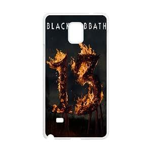 Samsung Galaxy Note 4 Cell Phone Case White Black Sabbath Lzdr