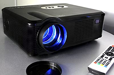 720P LED LCD Video Projector, Fugetek FG-857, Home Theater Cinema projector, Multi Inputs - 2-HDMI, 2-USB, 1280x800 Native Resolution, Black, Sleek Design, US Support & Warranty
