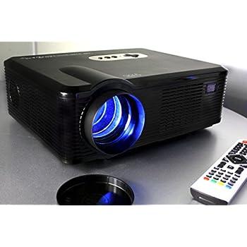 720P LED LCD Video Projector, Fugetek FG-857, Home Theater Cinema projector, Multi Inputs - 2-HDMI, 2-USB, 1280x800 Native Resolution, Black, Sleek Design, US Support & Warranty