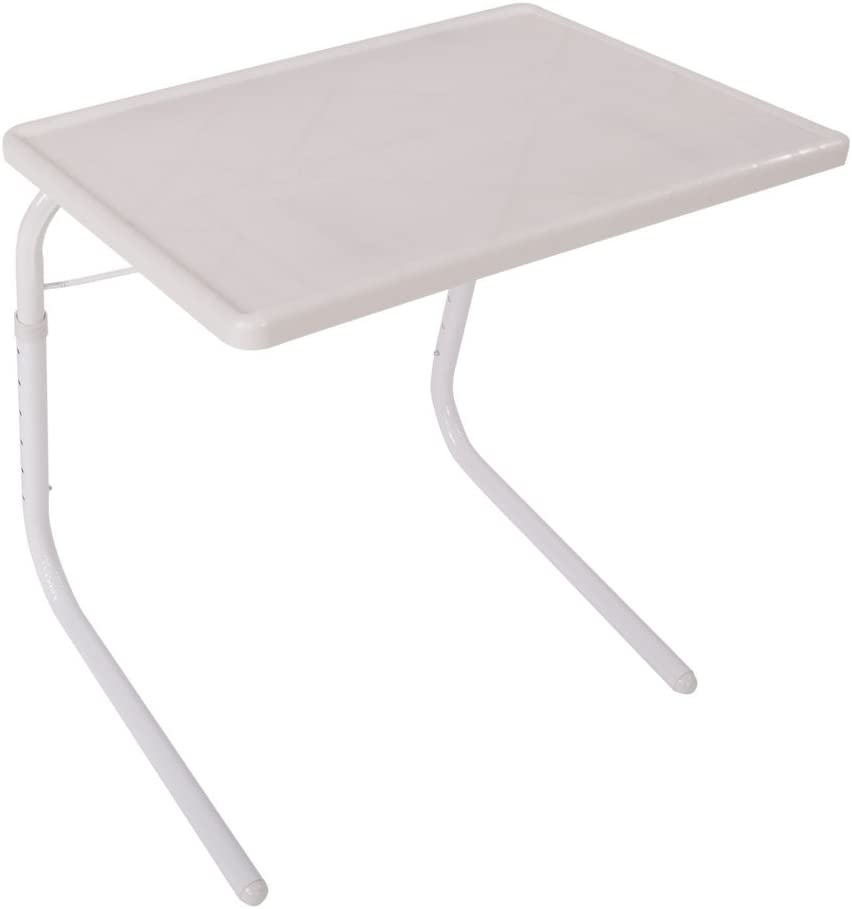 Olive Practical Portable Home Use Foldable Assembled Holder Bed Table Tray for Eating and laptops White