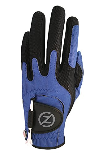 Zero Friction Men's Golf Gloves, Right Hand, One Size, Blue (Center Hand Right)