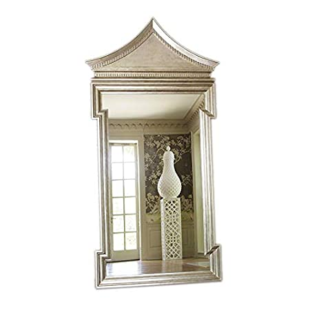 581d2f6063039 Luxe Chinoiserie Silver Pagoda Arch Top Wall Mirror