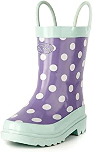 Outee Toddler Kids Rubber Rain Boots