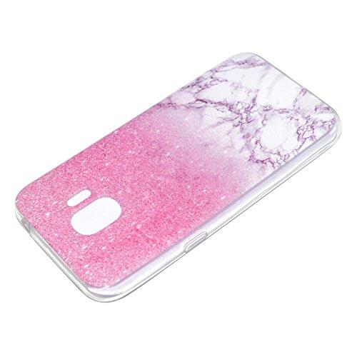 Funda para Samsung Galaxy J2 Pro 2018 / Grand Prime Pro 2018 , IJIA Transparente Rosa Mármol TPU Silicona Suave Cover Tapa Caso Parachoques Carcasa Cubierta para Samsung Galaxy J2 Pro 2018 / Grand Pri