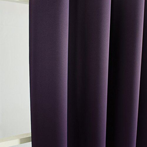 H.Versailtex Blackout Curtains u0026 DrapesThermal Insulated Small Curtain for Bedroom52 inch
