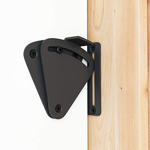 SMARTSTANDARD Barn Door Large Size Latch Lock Black Privacy Latch Lock for Sliding Door Work for Pocket Doors Garage and…