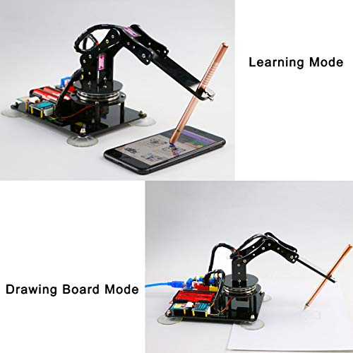 Adeept Arduino Compatible DIY 5-DOF Robotic Arm Kit for Arduino UNO R3 | STEAM Robot Arm Kit with Arduino and Processing Code | with PDF Tutorial via Download Link by Adeept (Image #1)