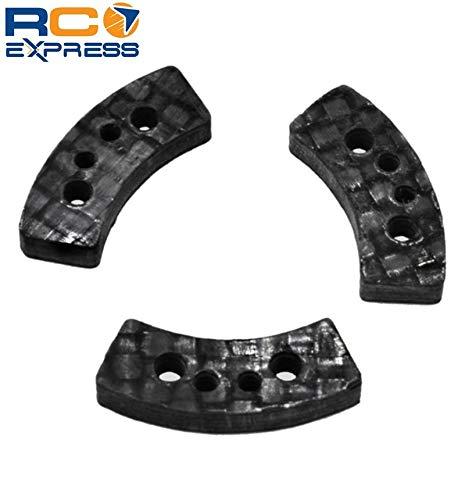 Hot Racing Carbon Fiber Long Slipper Clutch Pads (3): Traxxas, HRATRX15GSL