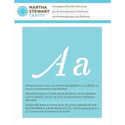 Martha Stewart Crafts Alphabet Stencil, 32988 Monogram Flourish