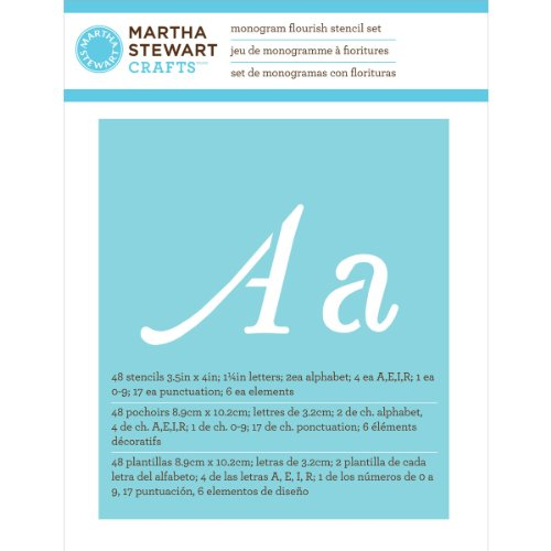 Martha Stewart Crafts Alphabet Stencil, 32988 Monogram Flourish by Martha Stewart Crafts