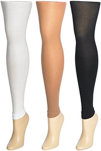 Trimfit 3 PacK Girls Multicolor Footless Tights 8-10
