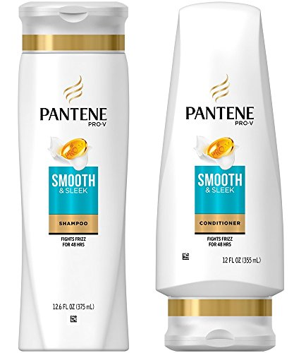 Pantene Pro-V Smooth & Sleek Shampoo and Conditioner Set, 12