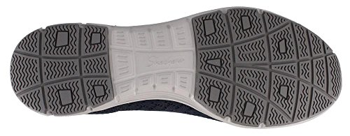 Skechers Mujeres Seager-stat-scalloped Collar, Engineered Skech-knit Slip-on-classic Fit Loafer Navy
