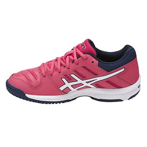Asics Gel-Beyond 5, Zapatos de Voleibol para Mujer Multicolor (Rouge Red/white/indigo Blue)