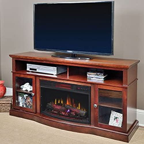 Electric fireplace entertainment centers amazon chimneyfree walker infrared electric fireplace entertainment center in espresso solutioingenieria Gallery