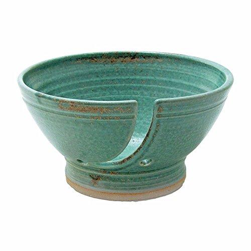 Saultman Design Handmade Knitting Yarn Bowl Rustic Turquoise