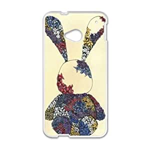 Cute rabbit dreessed flower cloth lovely personalized creative custom protective phone case for HTC M7