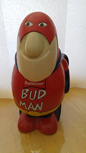 1989 Budweiser Budman Character; Lidded Stein