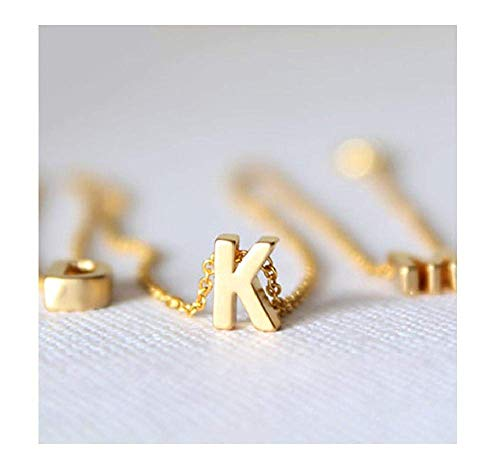 - EveyWell Nice Tiny Gold Necklace Gold Letter Necklace Initials Name Necklaces Pendant for Women Girls Gift,Q