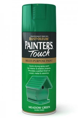 Rust-Oleum Painter's Touch Multi-Purpose Aerosol Spray Paint 400ml Meadow Green Gloss (1 Pack)