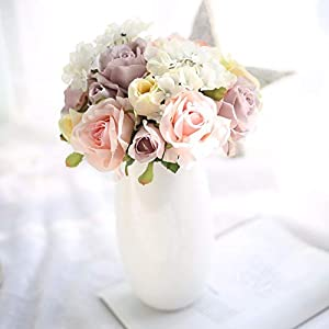 LySanSan - Artificial Rose Flowers Wedding Bouquet Party Home Decorative DIY Rose Simulation Flowers Bouquet for Table Decoration 79