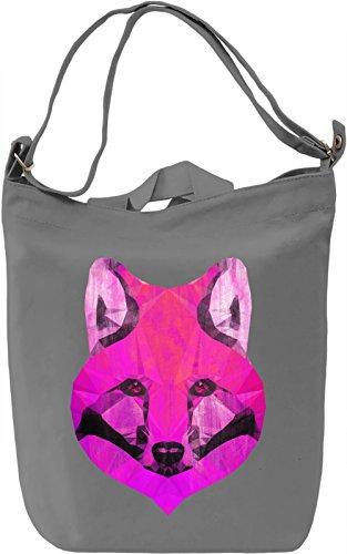 Pink Fox Borsa Giornaliera Canvas Canvas Day Bag  100% Premium Cotton Canvas  DTG Printing 