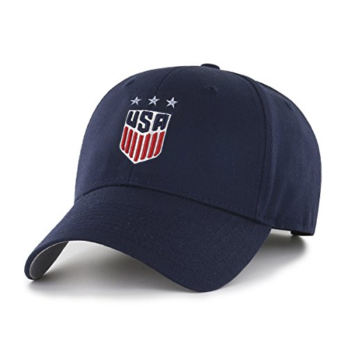 World Soccer Football Cap Hat - World Cup Soccer United States Women's OTS All-Star MVP Adjustable Hat, Navy, One Size