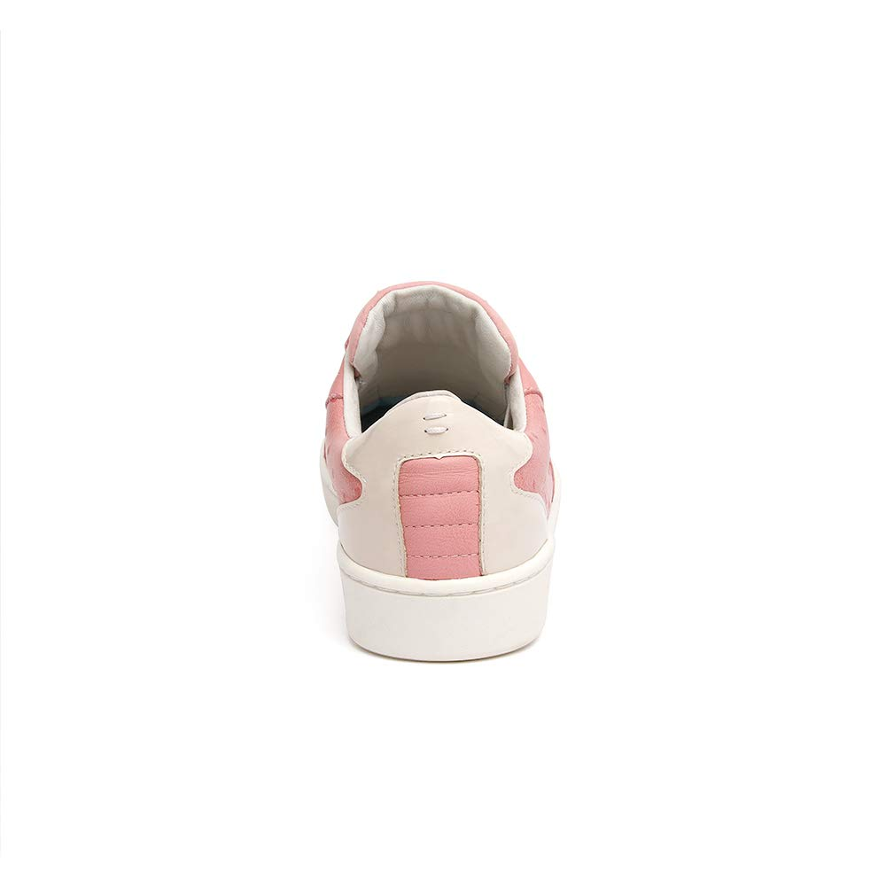 ROYAL ELASTICS Womens Adelaide Pink Gray Leather Sneakers