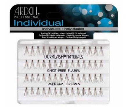 Ardell Professional Individual Knot-Free Flares - Medium Brown Lashes