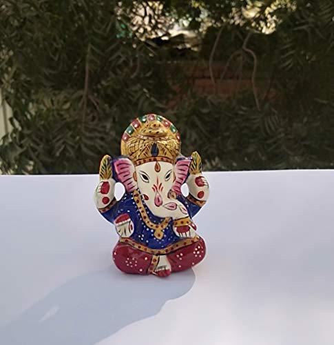 "Ganesha Statue Sculpted in Great Detail with Antique Finish Mandir Gift Hindu God Idol. Ganesh Idol for Car Home Decor 3.5/"" Lord Ganesh"
