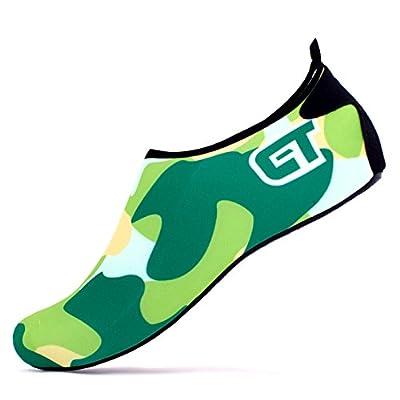 Giotto Barefoot Water Shoes Yoga Beach Swim Aqua Shoes for Women Men-Green-46-47
