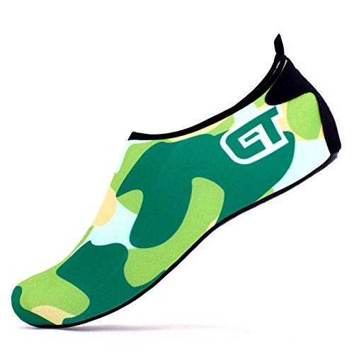Bare Feet Green - Giotto Barefoot Water Shoes Yoga Beach Swim Aqua Shoes for Women Men-Green-46-47