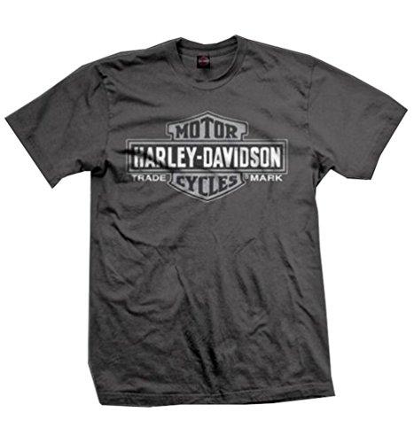 Harley-Davidson Men's T-Shirt, Bar & Shield Short Sleeve Tee, Gray 30290595 (S)