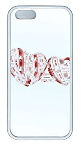 Blurred heart TPU White make iphone 5 cases for Apple iphone 6 by supermalls