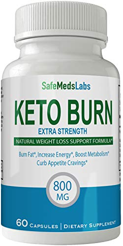 Safe Meds Keto Burn Pills Advance Weight Loss Supplement Appetite Suppressant Natural Ketogenic 800 mg Formula with BHB Salts Ketone Diet Capsules to Boost Metabolism, Energy and Focus