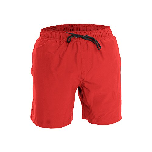 Men's Swim Trunks and Workout Shorts - S - Red - Perfect Swimsuit or Athletic Shorts for The Beach, Lifting, Running, Surfing, Pool, Gym. Boardshorts, Swimwear/Swim Suit for Adults, Men's Boys ()