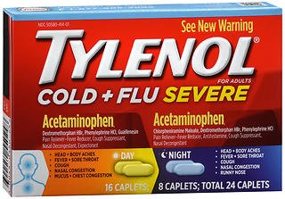 (Tylenol Cold + Flu Severe Day & Night Caplets - 24 ct, Pack of 2)