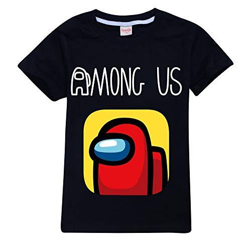 56 TianKoou Onder Us Cartoon Print Childrens Korte Mouw Tees Kleding Katoen T-Shirt
