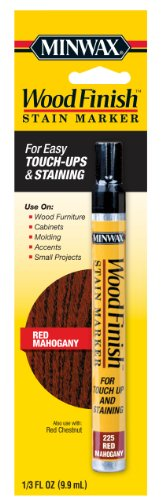 Dark Mahogany Stain - Minwax 63484000 Wood Finish Stain Marker, Red Mahogany