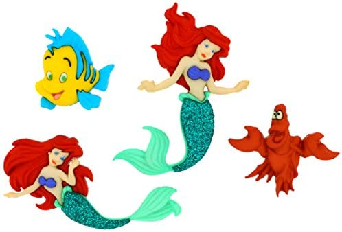 The Little Mermaid Dress It Up 7726 Disney Button Embellishments