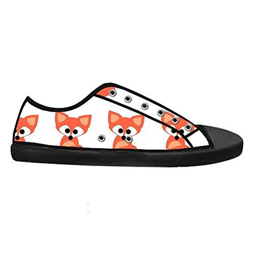 Dalliy Custom Fox Mens Canvas Shoes Schuhe Lace-Up High-Top Sneakers Segeltuchschuhe Leinwand-Schuh-Turnschuhe A