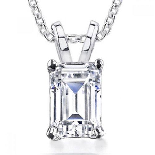 0.70 Ct Emerald Cut Diamond - 1