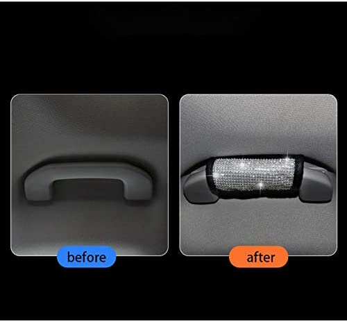 Luster Crystal Car Seat Belt Covers Diamond Car Decor Accessories for Women Jaimenalin 4 Packs Seat Belt Shoulder Pads